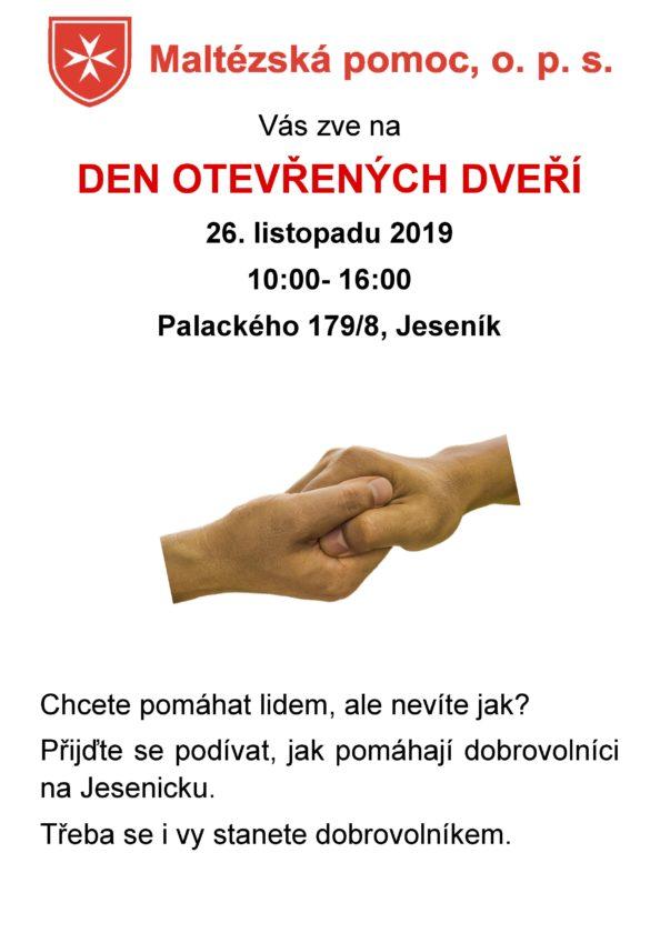 Zveme vás na den otevřených dveří v jesenickém centru Maltézské pomoci